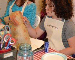 Craft_Party_Girls_Birthday_Paper_Mache_Puppy_Painting