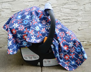 car-seat-cover-canopy-hatchlings-and-hens-red-white-blue-pinwheels-side-view
