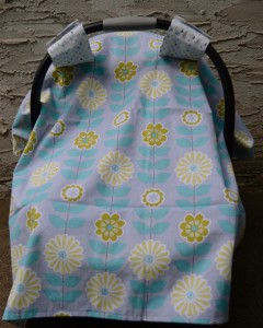 car-seat-cover-canopy-hatchlings-and-hens-teal-yellow-flowers